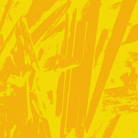 Distressed Color Texture with peeled paint and scratches. Empty grunge yellow color background. EPS10 vector Illustration