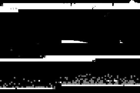 Glitch rectangle overlay distress texture. Cyber hacker attack theme creative design template. Grunge glitched black and white background. EPS10 vector