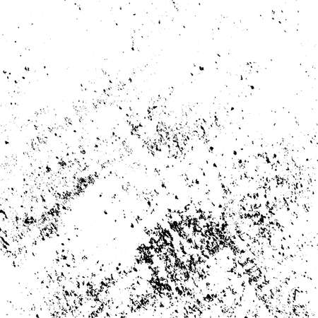 Distressed spray grainy overlay texture. Grunge dust messy background. Dirty powder rough empty cover template. Aged splatter crumb wall backdrop. Weathered drips aging design element. EPS10 vector Ilustración de vector