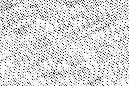 Distress grunge halftone overlay texture. Dirty noise aging pop art design template. EPS10 vector. Stock Illustratie