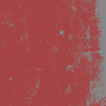 Red Distressed Overlay Texture. Empty grunge background for making aged your design. EPS10 vector.