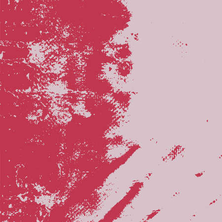 Red aged grainy messy template. Distress urban used texture. Grunge rough dirty background. Brushed black paint cover. Renovate wall scratched backdrop. Empty aging design element. EPS10 vector.