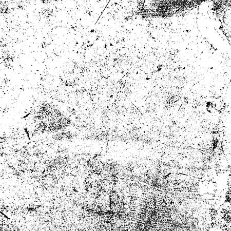 Distress urbane gebrauchte Textur. Grober schmutziger Hintergrund des Schmutzes. Gebürstete schwarze Lackabdeckung. Überlagern Sie gealterte körnige, unordentliche Vorlage. Wand zerkratzte Kulisse renovieren. Leeres alterndes Gestaltungselement. EPS10-Vektor Vektorgrafik