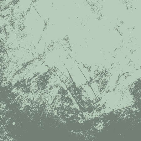 Dirty rustic rough empty cover template. Distressed spray green grainy back texture. Grunge dust messy background. Aged splatter crumb wall backdrop. Weathered aging design element. EPS10 vector Ilustração