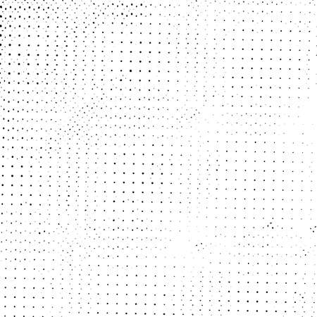 Abstract Halftone Distress urban used texture. Grunge rough dirty background. Brushed black paint cover. Overlay aged grainy messy template. Empty aging design element. EPS10 vector