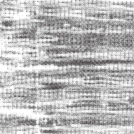 Distress grunge halftone overlay texture. Dirty noise aging design template. Pop art artistic element. EPS10 vector.