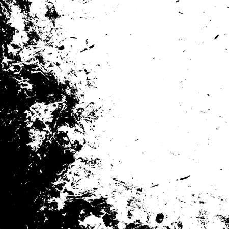 Distress urban used texture. Grunge rough dirty background. Brushed black paint cover. Overlay aged grainy messy template. Renovate wall scratched backdrop. Empty aging design element. EPS10 vector. Ilustração
