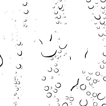 Distress black and white water drop background. Raindrop overlay grunge texture. Artistic wet design template. EPS10 vector. Ilustração