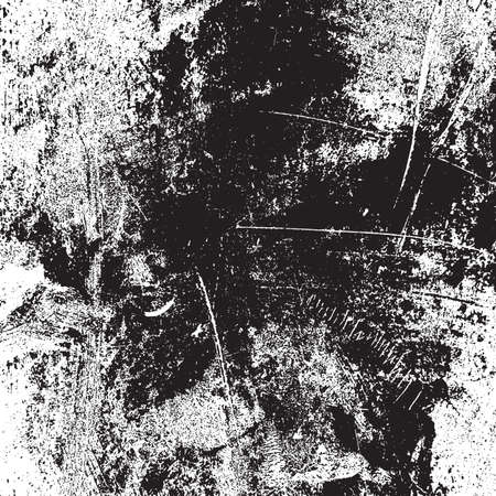 Distressed spray grainy overlay texture. Grunge dust messy background. Dirty powder rough empty cover template. Aged splatter crumb wall backdrop. Weathered drips aging design element. EPS10 vector. Ilustração Vetorial