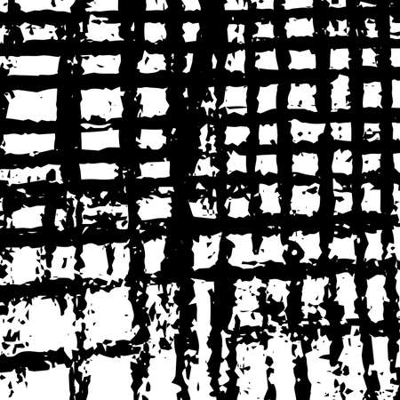 Distress Striped grid Overlay Paint Messy Dirty Texture for your design. EPS10 vector. Illustration