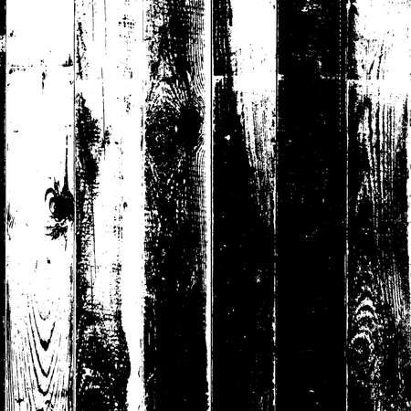 Distressed grainy wood overlay texture. Grunge wooden planks messy background. Dirty rustic empty cover template. Rural fence wall backdrop. Weathered aging design element. EPS10 vector. Illustration