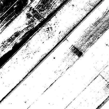 Wooden dry planks diagonal distressed overlay texture with knot. Grunge old wood black cover template. Weathered rural grainy timber backdrop. Aged dried board creative element. EPS10 vector.