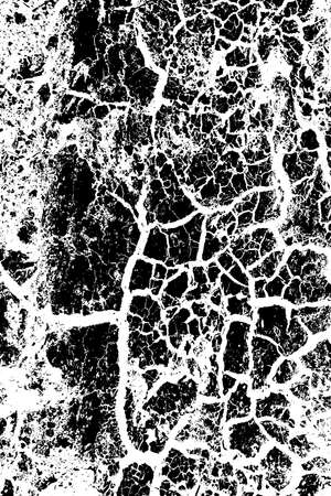 Distressed Cracked Paint Overlay Texture. Grune dry overlay background. EPS10 vector.