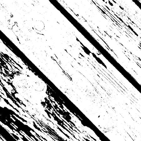 Grunge wooden diagonal planks messy background. Dirty rustic empty cover template. Distressed grainy wood overlay texture. Rural fence wall backdrop. Weathered aging design element. EPS10 vector.