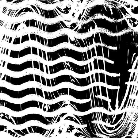 Distressed artistic flow overlay template. Wavy grunge overlay texture. Wave Stripe Background - simple texture for your design. EPS10 vector.