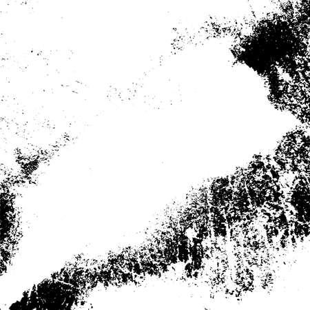 Sovrapponi il modello disordinato granuloso invecchiato. Consistenza urbana usata di emergenza. Fondo sporco grezzo di lerciume. Copertura in vernice nera spazzolata. Rinnova lo sfondo sporco della cornice del muro. Elemento di design invecchiamento vuoto. Vettore Eps10.