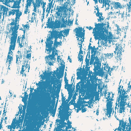 Grunge blue rough dirty background. Overlay aged grainy messy template. Brushed paint cover. Empty aging design element. Distress urban used texture. Renovate wall frame grimy backdrop. EPS10 vector