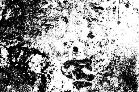 Distress urban used texture. Grunge rough dirty background. Brushed black paint cover. Overlay aged grainy messy template. Renovate wall scratched backdrop. Empty aging design element. EPS10 vector. Ilustrace