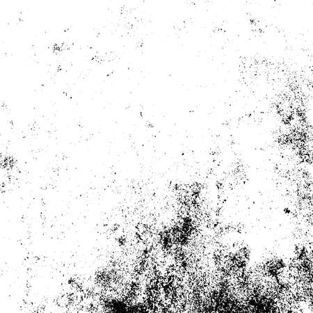 Distressed black overlay texture. Grunge dark messy background. Dirty empty cover template. Ink brushed renovate wall backdrop. Insane aging design element. EPS10 vector.