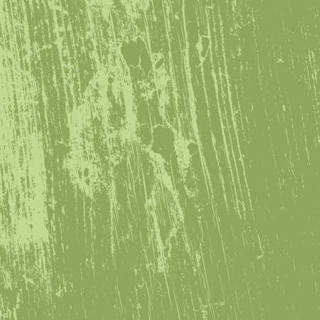 Distressed spray green grainy back texture. Grunge dust messy background. Dirty powder rough empty cover template. Aged splatter crumb wall backdrop. Weathered aging design element. EPS10 vector