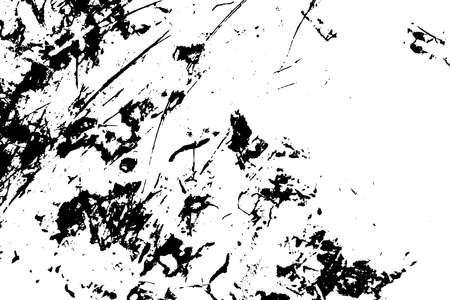 Overlay aged grainy messy template. Distress urban used texture. Grunge rough dirty background. Brushed black paint cover. Renovate wall scratched backdrop. Empty aging design element.