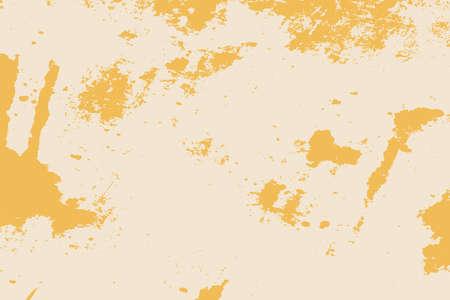 Schmutzige beige rustikale raue leere Abdeckungsschablone. Beunruhigte Spray-körnige Rückseitentextur. Schmutziger Staub unordentlich Hintergrund. Im Alter von Splatter-Krümel-Wand-Hintergrund. Verwittertes alterndes Gestaltungselement. EPS10-Vektor