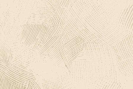 Modèle de couverture vide rugueux rustique beige sale. Texture de dos granuleuse en spray vieilli. Fond sale de poussière grunge. Toile de fond de mur de miettes d'éclaboussures âgées. Élément de conception vieillissant aux intempéries. vecteur EPS10
