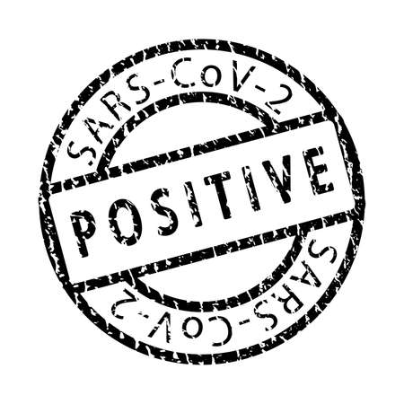 Covid19 virus health test pass circle grunge stamp. 2019 nCov positive and negative round distressed ink mark. Sars cov-2 world pandemy creative design template.