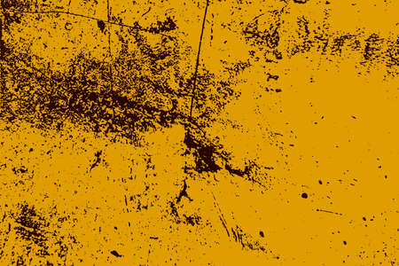Empty grunge yellow color background. Distressed Orange Color Texture with peeled paint and scratches. EPS10 vector