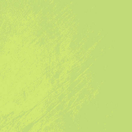 Distress green background. Grunge dirty texture. Damaged painted color painted wall. Creative peeled design template. EPS10 vector.