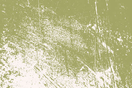 Dirty rustic rough empty cover template. Distressed spray green grainy back texture. Grunge dust messy background. Aged splatter crumb wall backdrop. Weathered aging design element. EPS10 vector Ilustracje wektorowe