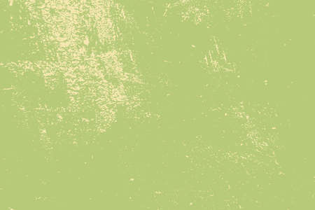 Distress green background. Grunge dirty texture. Damaged painted color painted wall. Creative peeled design template. EPS10 vector. Illustration