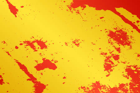 Empty grunge yellow color background. Distressed Orange Color Patina Texture with peeled paint and scratches. Illustration