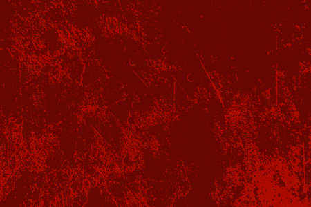 Red aged grainy messy template. Distress urban used texture. Grunge rough dirty background. Brushed color paint cover. Renovate wall scratched backdrop. Empty aging design element.