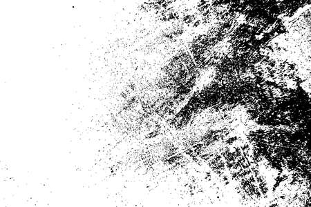 Distressed spray grainy overlay texture. Grunge dust messy background. Dirty powder rough empty cover template. Aged splatter crumb wall backdrop. Weathered drips aging design element.