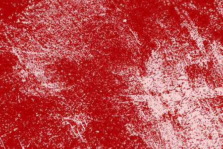 Red aged grainy messy template. Distress urban used texture. Grunge rough dirty background. Brushed color paint cover. Renovate wall