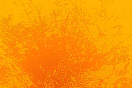 Empty grunge yellow color background. Distressed Orange Color Texture with peeled paint and scratches.
