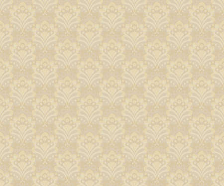 Seamles background - abstract flowers. Vector illustration in beige colors.