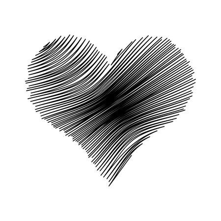Grunge Heart Valentine Background.