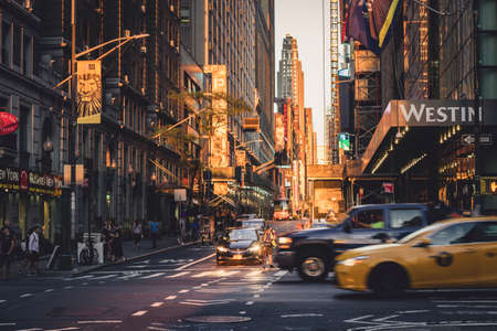 Close to Times Square on the streets of Manhattan, New York, USA