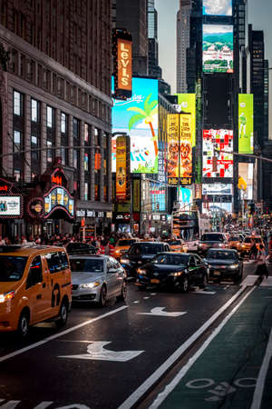 Times Square in the streets of Manhattan, New York, USA Editorial