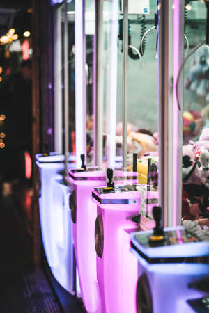 Arcade Claw Machine on a midnight fair