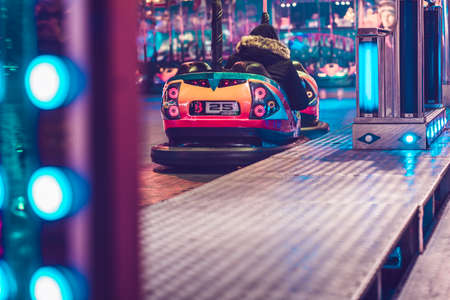 Bumper car at the midnight fair