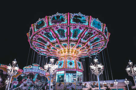 Carousel at the midnight fair