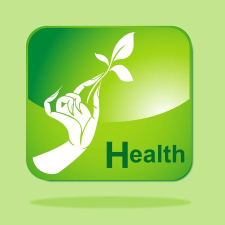 Green Eco icon concept-Health Vector