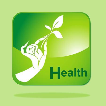 Green Eco icon concept-Health Vector