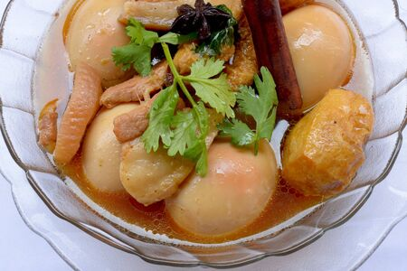Egg Stewed Pork, Kai Plo Hmo  thailand food