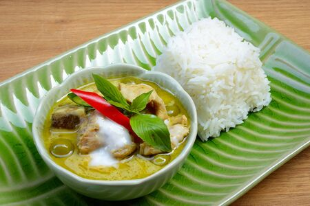 favorite soup: Thai chicken green curry