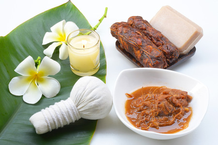 Tamarind Spa soap to scrub your face and body.