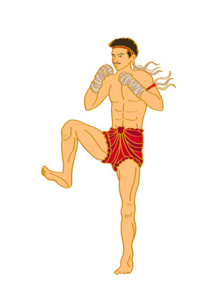 muay thai boxer kick fighting boxing